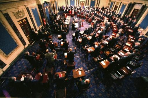 The US Senate meets on January 7, 1999, to open the impeachment trial of president Bill Clinton