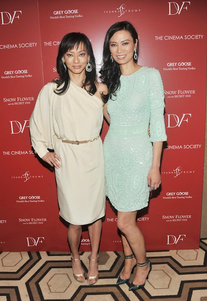 """NEW YORK, NY - JULY 13:  Producers Florence Sloan and Wendi Murdoch attend the Cinema Society with Ivanka Trump Jewelry & Diane Von Furstenberg screening of """"Snow Flower And The Secret Fan"""" at the Tribeca Grand Hotel on July 13, 2011 in New York City.  (Photo by Stephen Lovekin/Getty Images)"""