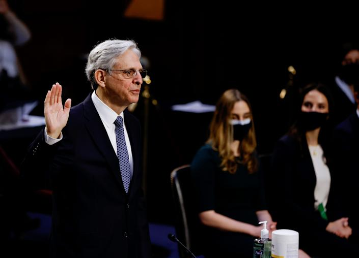 """""""We are focused on violence, not ideology,"""" Attorney General Merrick Garland said Tuesday in an address at the Justice Department as the Biden administration unveiled a national strategy to combat domestic terrorism."""