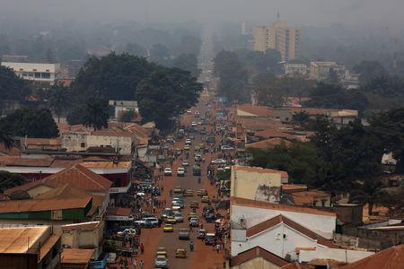 FILE PHOTO: A general view shows a part of the capital Bangui, Central African Republic, February 16, 2016. REUTERS/Siegfried Modola/File Photo