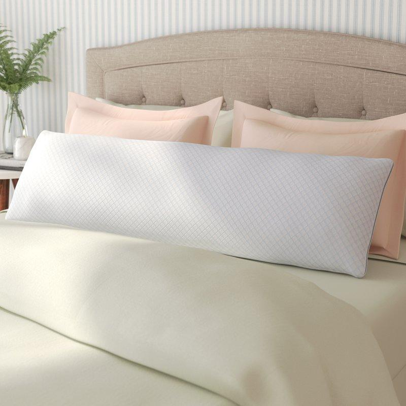 "<strong><h3>White Noise Cool Gel Memory Foam Body Pillow</h3></strong><br>This standard-shaped body pillow built for supporting side sleepers is made with hypoallergenic materials and filled with cool-gel memory foam pieces for a temperature neutral snooze.<br><br><strong>The Hype: </strong>4.6 out of 5 stars and 1206 reviews on <a href=""https://fave.co/38aw1Pb"" rel=""nofollow noopener"" target=""_blank"" data-ylk=""slk:Wayfair"" class=""link rapid-noclick-resp"">Wayfair</a><br><br><strong>Serious Sleepers Say: </strong>""It is the most comfortable body pillow I've ever owned and I use it for my back. I have so many back problems by the end of the day I can barely walk and after sleeping with his pillow I wake up and I feel brand new. I would definitely recommend this to anyone!"" <em>– Andrea, Wayfair reviewer</em><br><br><strong>White Noise</strong> Cool Gel Memory Foam Body Pillow, $, available at <a href=""https://go.skimresources.com/?id=30283X879131&url=https%3A%2F%2Ffave.co%2F38aw1Pb"" rel=""nofollow noopener"" target=""_blank"" data-ylk=""slk:Wayfair"" class=""link rapid-noclick-resp"">Wayfair</a>"
