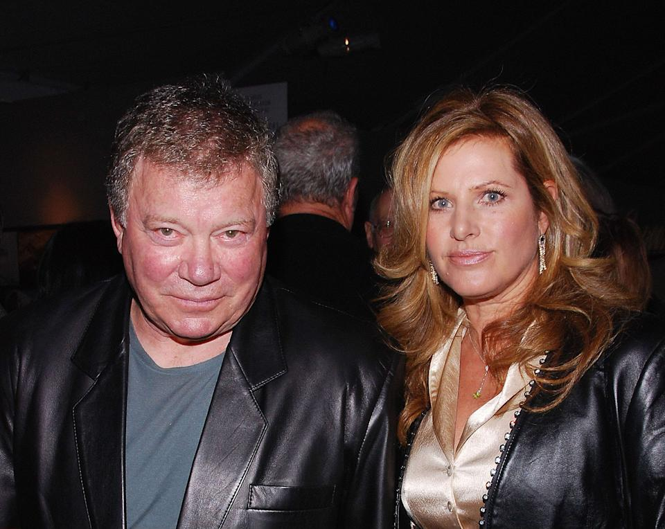 William Shatner and wife Elizabeth Anderson Martin. 23 January 2008 - Santa Monica, California. 2008 L.A. ART SHOW held at Barker Hangar at the Santa Monica Airport. Photo Credit: Giulio Marcocchi/Sipa Press. (') Copyright 2008 by Giulio Marcocchi./LAart_gm.004/0801240923