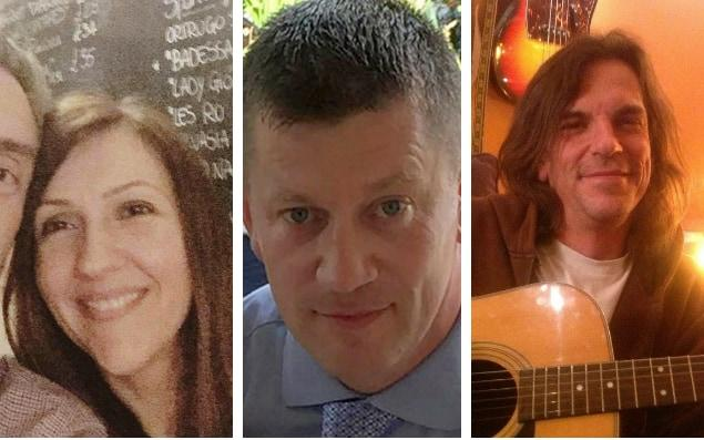Westminster victims, from left, Aysha Frade, Pc Keith Palmer and Kurt Cochran