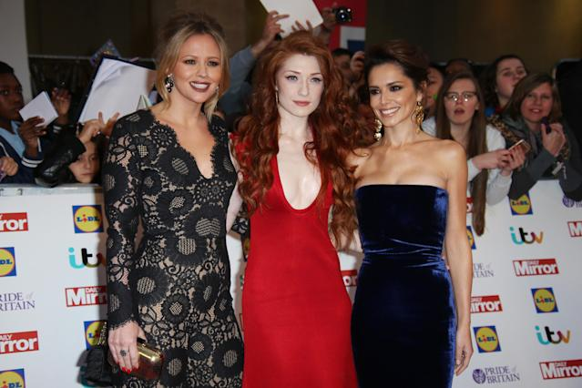 Kimberley Walsh, Nicola Roberts and Cheryl have remained close friends. (AP)