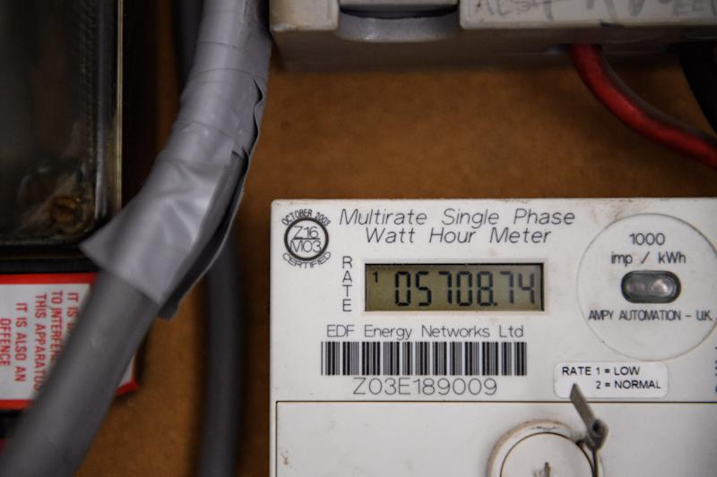 Eletricity meters in a London apartment building. Picture date: Monday March 30, 2020. Photo credit should read: Matt Crossick/Empics
