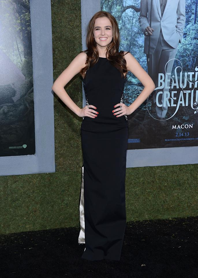 """HOLLYWOOD, CA - FEBRUARY 06:  Actress Zoey Deutch attends the premiere of Warner Bros. Pictures' """"Beautiful Creatures"""" at TCL Chinese Theatre on February 6, 2013 in Hollywood, California.  (Photo by Jason Kempin/Getty Images)"""