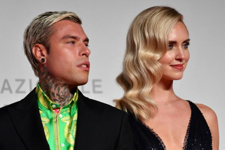 Fedez (L) has over 12 million followers on Instagram and is married to star blogger Chiara Ferragni