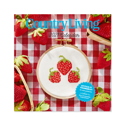 """<p>countryliving.com</p><p><strong>$15.00</strong></p><p><a href=""""https://shop.countryliving.com/2021-country-living-calendar.html"""" rel=""""nofollow noopener"""" target=""""_blank"""" data-ylk=""""slk:Shop Now"""" class=""""link rapid-noclick-resp"""">Shop Now</a></p><p>Featuring a year's-worth of the magazine's popular cross-stitch patterns (think butterflies, bikes, pickup trucks, and more), this happy wall calendar also features seasonal tips from <em>Country Living </em>and country-specific holidays (Dolly Parton's birthday, of course).</p>"""