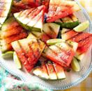 """<p>Grilling gives watermelon a smoky, caramelized taste that perfectly complements its sweet juiciness.</p><p><a href=""""https://www.thepioneerwoman.com/food-cooking/recipes/a35936464/grilled-watermelon/"""" rel=""""nofollow noopener"""" target=""""_blank"""" data-ylk=""""slk:Get the recipe."""" class=""""link rapid-noclick-resp""""><strong>Get the recipe.</strong></a><br><br><a class=""""link rapid-noclick-resp"""" href=""""https://go.redirectingat.com?id=74968X1596630&url=https%3A%2F%2Fwww.walmart.com%2Fsearch%2F%3Fquery%3Dgrill%2Btongs&sref=https%3A%2F%2Fwww.thepioneerwoman.com%2Ffood-cooking%2Fmeals-menus%2Fg32109085%2Ffourth-of-july-desserts%2F"""" rel=""""nofollow noopener"""" target=""""_blank"""" data-ylk=""""slk:SHOP GRILL TONGS"""">SHOP GRILL TONGS</a></p>"""