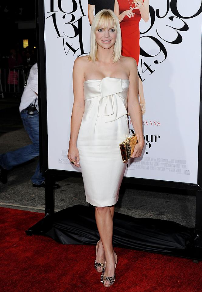"<a href=""http://movies.yahoo.com/movie/contributor/1800506130"">Anna Faris</a> at the Los Angeles premiere of <a href=""http://movies.yahoo.com/movie/1810179802/info"">What's Your Number?</a> on September 19, 2011."