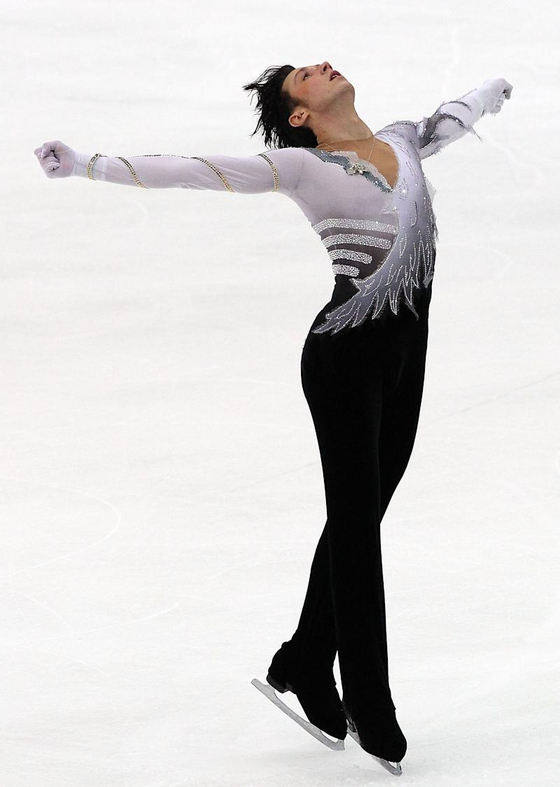 Performing in the men's free skating on day 1 of the ISU Grand Prix of Figure Skating NHK Trophy at Big Hat on Nov. 7, 2009, in Nagano, Japan.