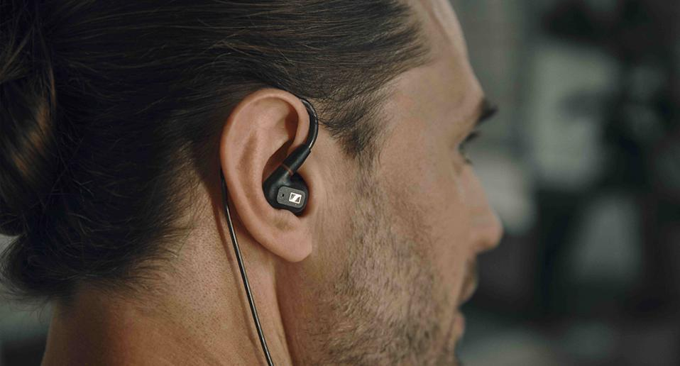 These Sennheiser's IE 300 in-ear buds will have you strutting like a rock star. (Sennheiser)