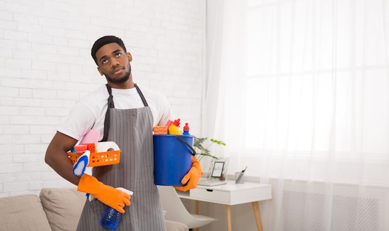If eye-rolls are your first reaction to cleaning, you're not alone.  (Photo: Prostock-Studio via Getty Images)