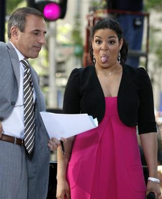 "Jordin Sparks, ""American Idol"" winner, talks with host Matt Lauer during an appearance on NBC's ""Today"" show in New York May 31, 2007."