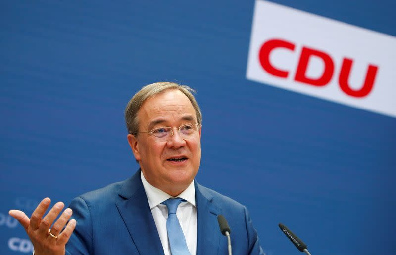 CDU candidate for chancellor Laschet holds news conference in Berlin