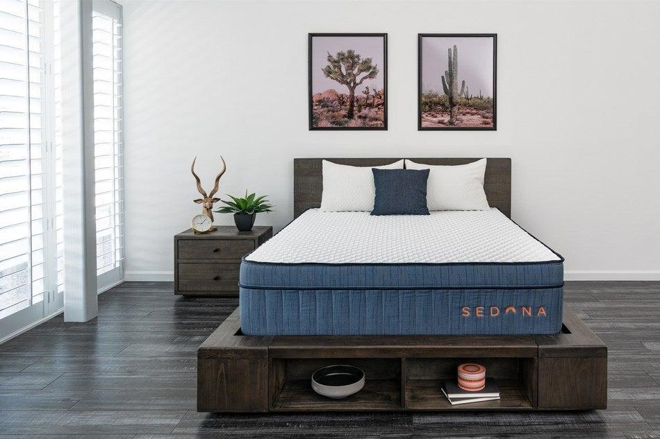 The Sedona Hybrid by Brooklyn Bedding was designed with the Southwest resort lifestyle in mind. The mattress is handcrafted in Arizona, using premium materials typically associated with a high-end hotel mattress. It combines the best features of all of the brand's number one selling beds to deliver an exceptional trifecta of comfort, support and cooling.