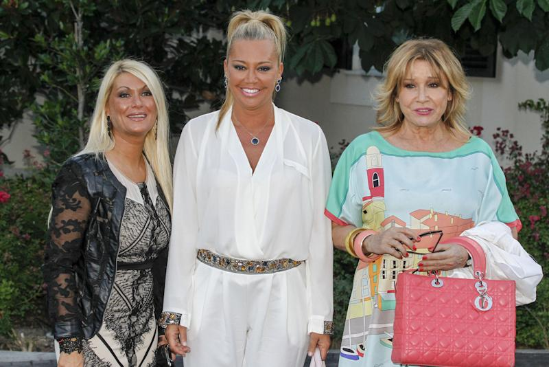 MADRID, SPAIN - JUNE 18: (L-R) Marivi, Belen Esteban and Mila Ximenez attend Maria Teresa Campos's 74th birthday on June 18, 2015 in Madrid, Spain. (Photo by Europa Press/Europa Press via Getty Images)