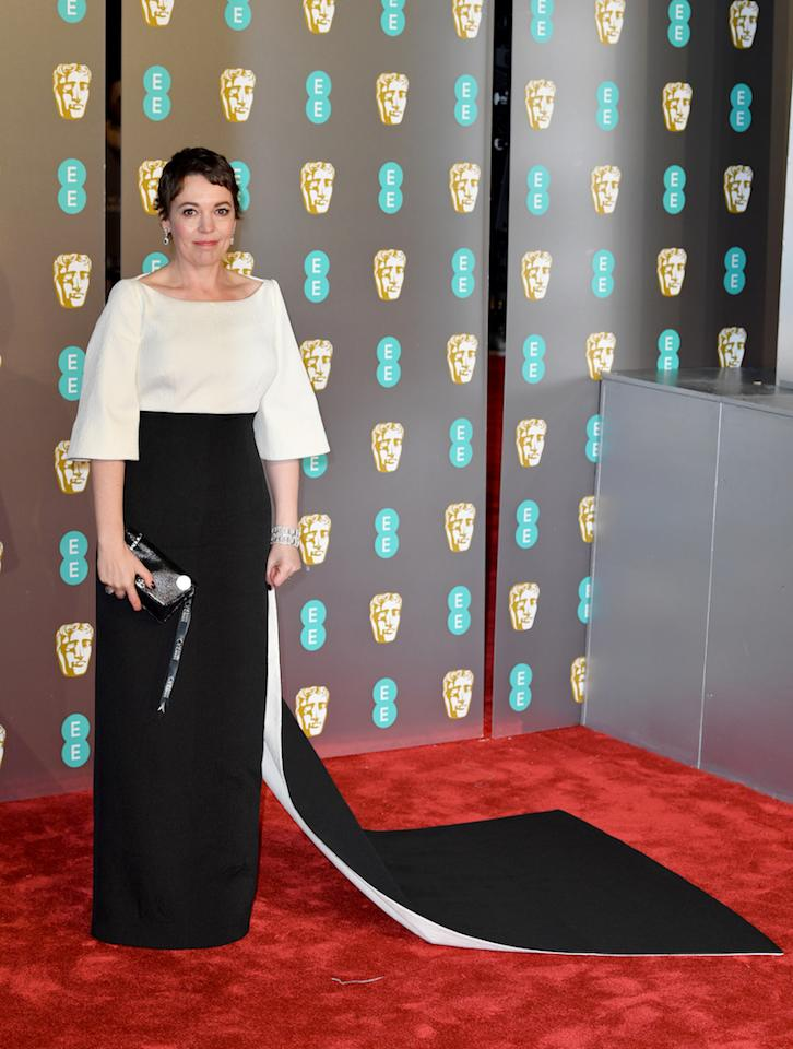 <p>Vêtue d'une tenue Emilia Wickstead. <em>[Photo: Getty]</em> </p>