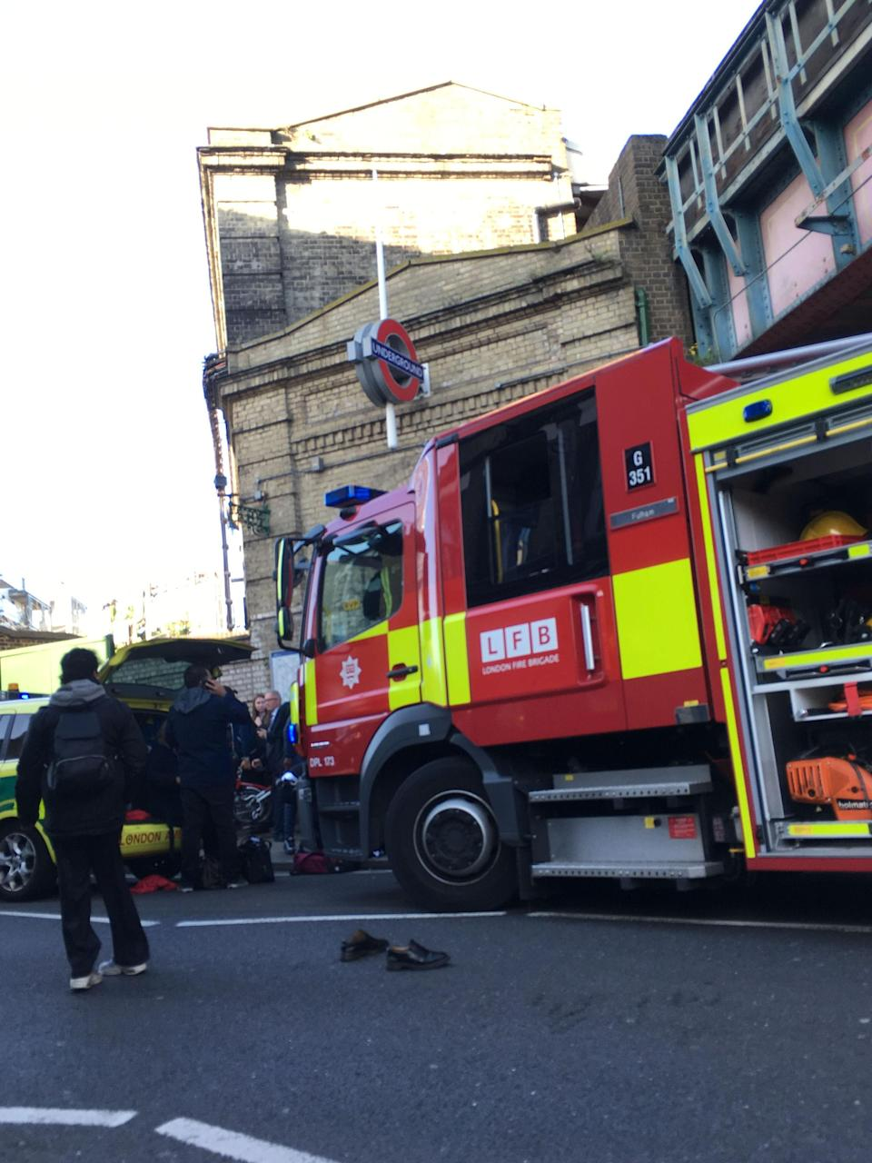 <p>Fire crews arrived at the scene within minutes, after reports that passengers had suffered facial burns from the blast. (PA) </p>