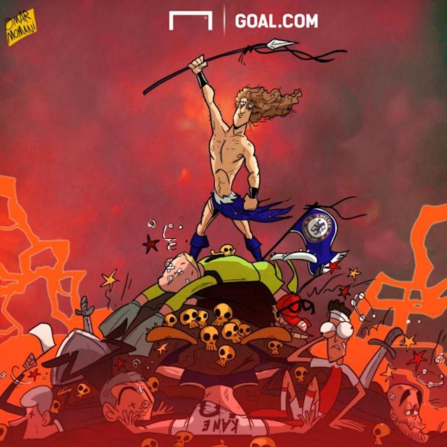 Cartoon David Luiz Liverpool Chelsea 01/02/2017