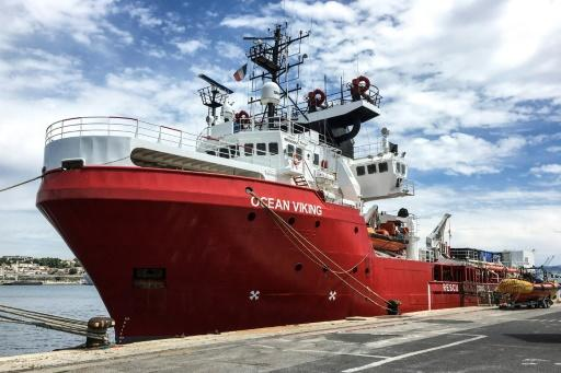 The Ocean Viking rescue ship -- charted by French aid group SOS-Mediterranee -- has been heading through the waters towards Libya in its first mission since a three-month suspension during the health crisis
