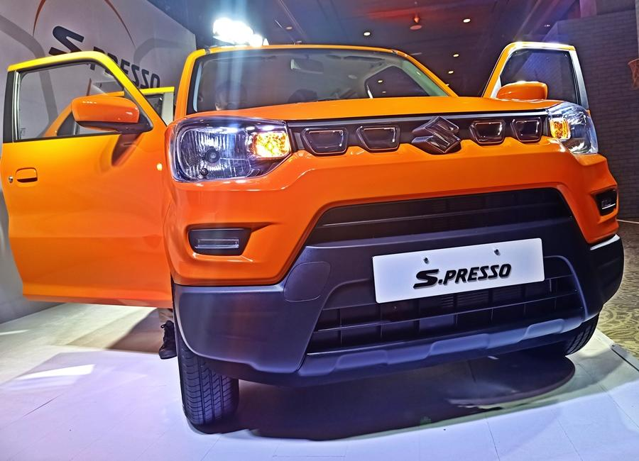The S-Presso is based on the 5th generation 'Heartect' platform and complies with the latest Indian safety regulations, including those for frontal offset crashes.