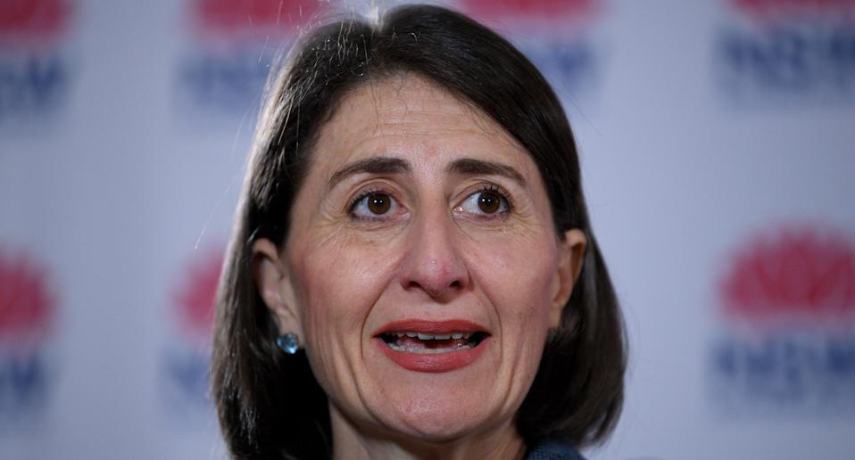 NSW Premier Gladys Berejiklian at a press conference about opening borders to NSW