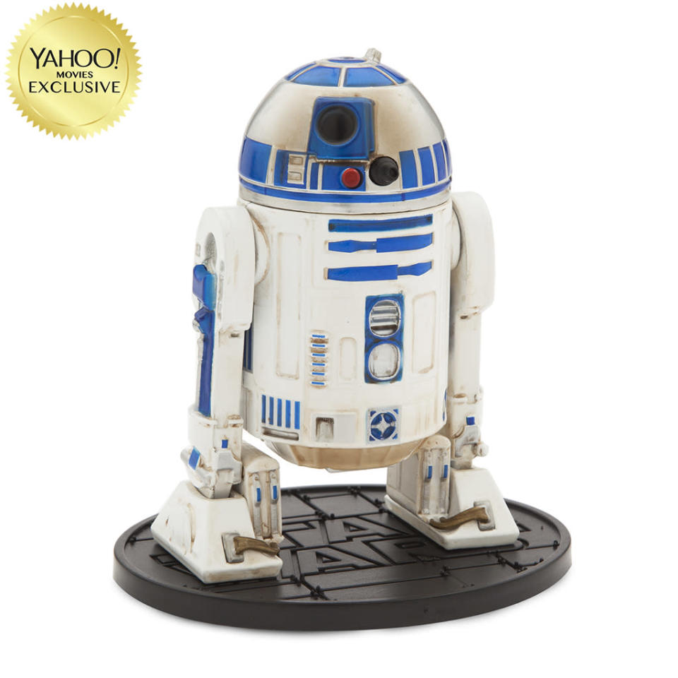"""<p>""""Luke Skywalker's faithful astromech droid R2-D2 comes to life in this meticulously crafted action figure."""" $26.95/DisneyStore.com (Photo: Disney Store) </p>"""