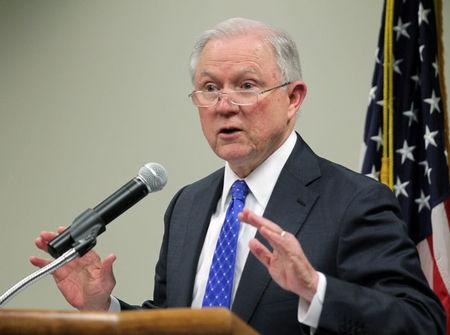 United States Attorney General Jeff Sessions visits  families of opioid overdose victims and members of law enforcement at the U.S. Attorney's Office for the Eastern District of Kentucky in Lexington