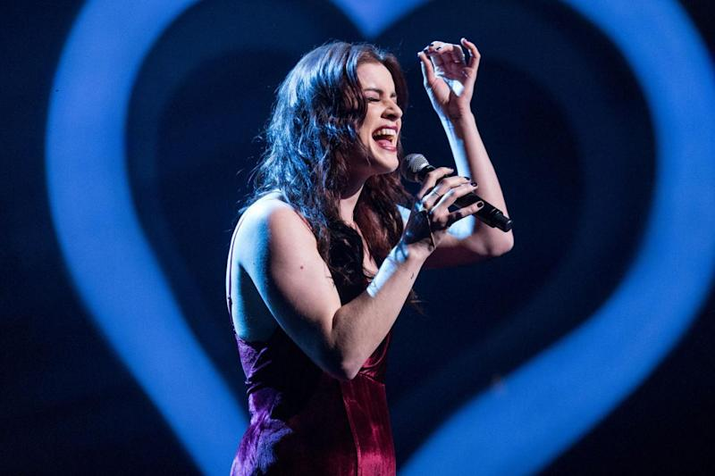 UK act: Lucie Jones will be performing at the Eurovision Song Contest final in Kiev (BBC/Guy Levy)