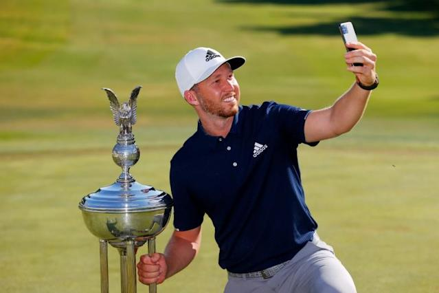 Daniel Berger leapt from 107th to 31st in the world rankings with his win at Colonial on Sunday (AFP Photo/TOM PENNINGTON)