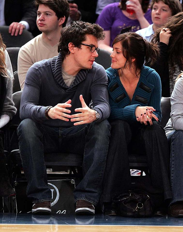"""The ladies love John Mayer! The musician was romantically linked to Jessica Simpson for about nine months, then started dating """"Friday Night Lights"""" star Minka Kelly in September 2007. James Devaney/<a href=""""http://www.wireimage.com"""" target=""""new"""">WireImage.com</a> - November 11, 2007"""