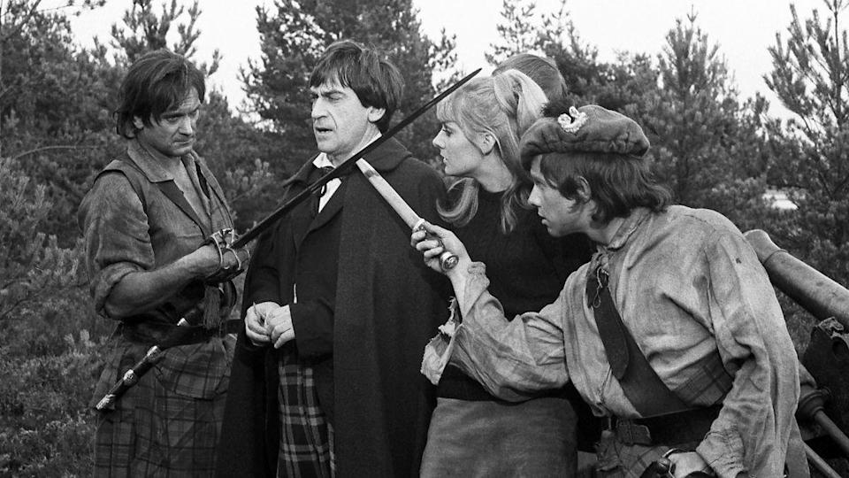 """<p>The Doctor and friends encounter fleeing Scots rebels following the Battle of Culloden in 1745. No episodes of this four-parter survive, but few brief clips are available to watch on the <em><em><a href=""""https://www.amazon.co.uk/Doctor-Who-Lost-Time-DVD/dp/B0002XOZW4/"""" rel=""""nofollow noopener"""" target=""""_blank"""" data-ylk=""""slk:Lost in Time"""" class=""""link rapid-noclick-resp"""">Lost in Time</a> </em></em>set, while the complete audio recordings are available on CD and as a download.</p>"""