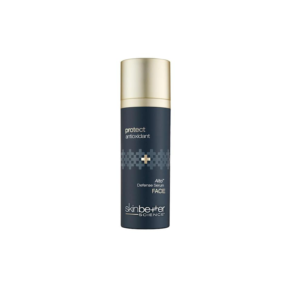 """<p>SkinBetter Science's Alto Defense Serum took home a <a href=""""https://www.allure.com/review/skinbetter-science-alto-defense-serum?mbid=synd_yahoo_rss"""" rel=""""nofollow noopener"""" target=""""_blank"""" data-ylk=""""slk:2020 Allure Best of Beauty Award"""" class=""""link rapid-noclick-resp"""">2020 <em>Allure</em> Best of Beauty Award</a> — and it's beloved by dermatologists, too. """"This formula has a very powerful form of vitamin C that [the brand has] proven stable and effective in clinical trials,"""" says Finney. """"It also has a number of other antioxidants that help to keep cells healthy and reduce inflammation and redness, as well as ingredients to help repair the skin barrier."""" </p> <p>Some of those reparative ingredients include ceramides and hydrating <a href=""""https://www.allure.com/story/what-is-glycerin-skin-care-ingredient?mbid=synd_yahoo_rss"""" rel=""""nofollow noopener"""" target=""""_blank"""" data-ylk=""""slk:glycerin"""" class=""""link rapid-noclick-resp"""">glycerin</a>. Finney adds that this serum is an ideal formula for acne-prone skin, as it's ultra-lightweight and won't clog pores.</p> $155, SkinBetter Science. <a href=""""https://skinbetter.com/products/protect-alto-defense-serum/"""" rel=""""nofollow noopener"""" target=""""_blank"""" data-ylk=""""slk:Get it now!"""" class=""""link rapid-noclick-resp"""">Get it now!</a>"""