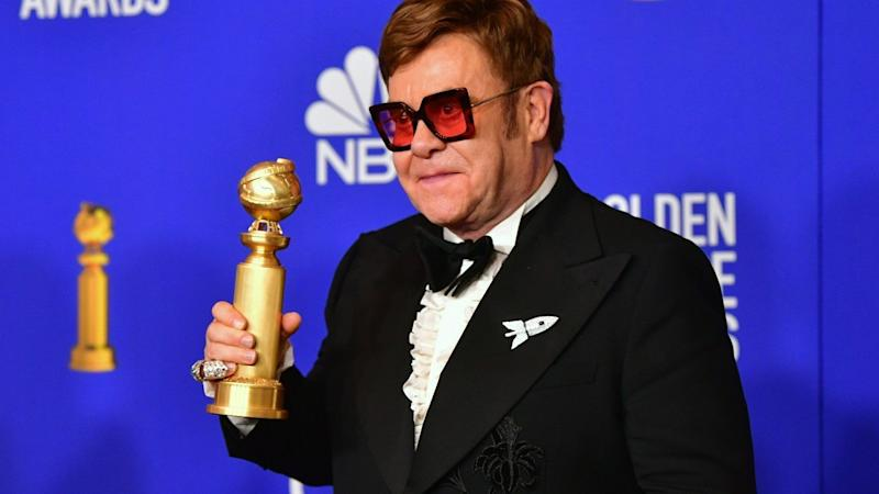 Elton John's sweet Golden Globes moment with his long-time songwriting partner