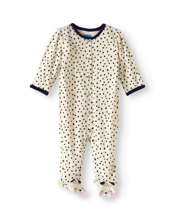 Sleepsuit with mittens