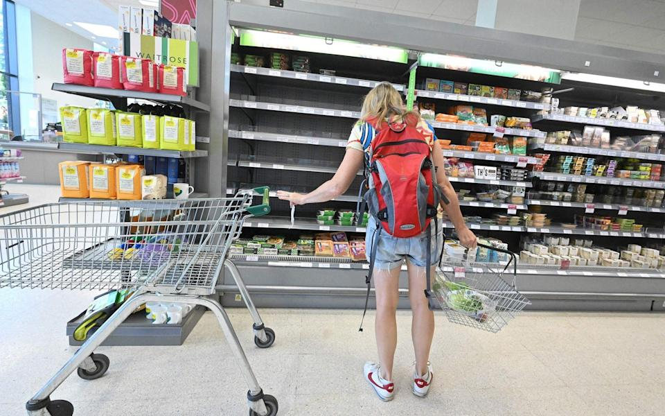 The British Retail Consortium, which represents the major chains, said it expected to see food shortages within days - Justin Tallis/AFP via Getty Images