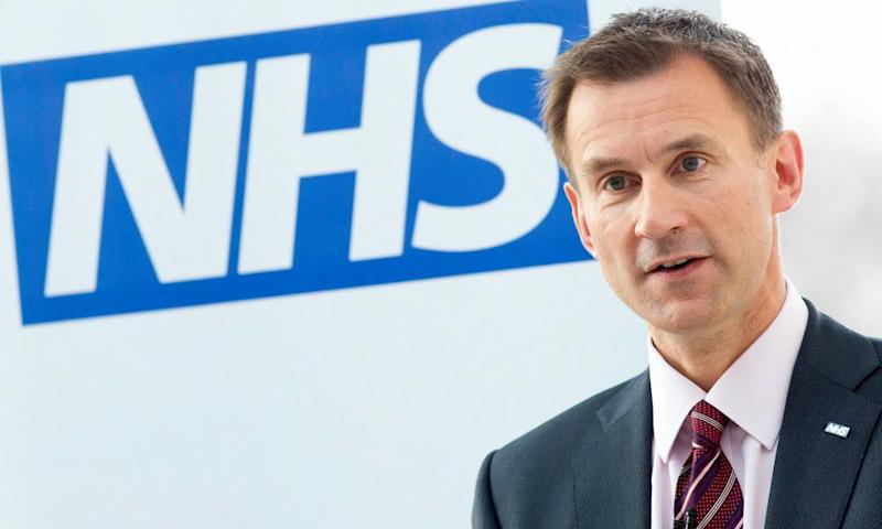 The ​​health secretary, Jeremy Hunt