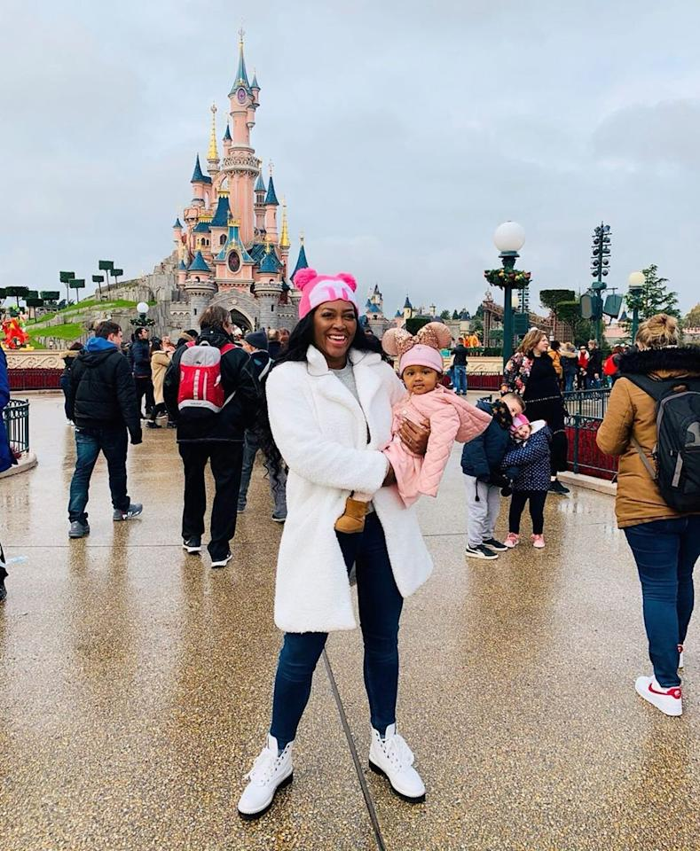"""The <em>Real Housewives of Atlanta</em> star took her """"miracle baby"""" <a href=""""https://www.instagram.com/p/B4sB0PpHMwL/"""">Brooklyn to Disneyland Paris</a> to ring in her first birthday. """"A weeklong celebration isn't long enough to celebrate your 1 year birthday!"""" she captioned the photo."""