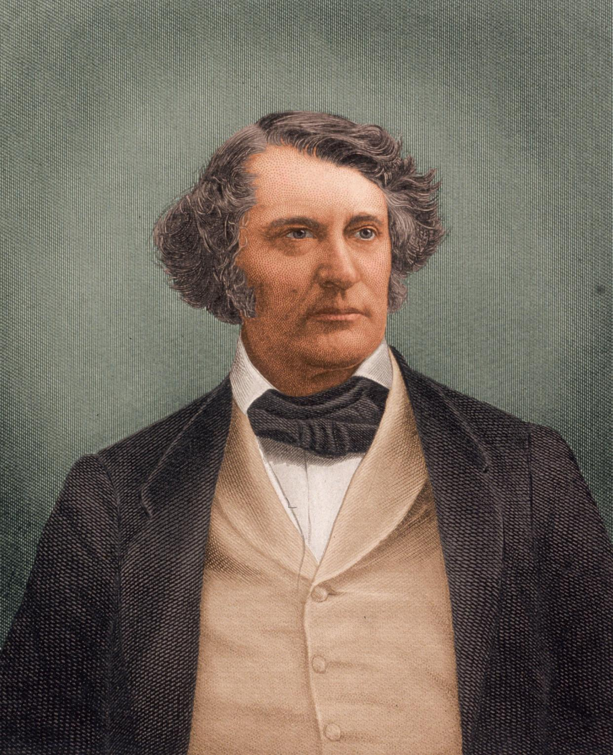 Charles Sumner, a Senate leader in the impeachment trial of Andrew Johnson.