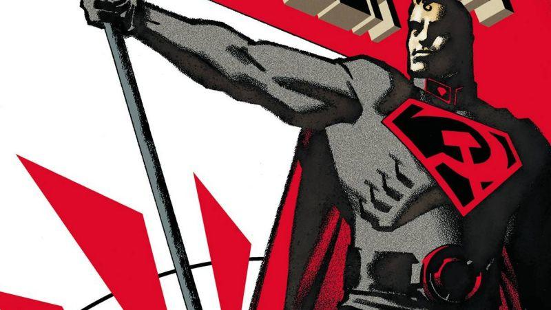 The Man of Steel reimagined as a Soviet hero in 2003 graphic novel 'Superman: Red Son' (credit: DC Comics)