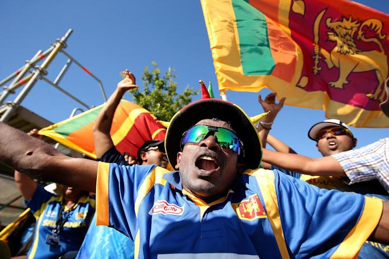 Sri Lanka cricket fans show their support