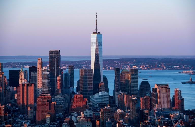 The One World Trade Center seen from the Empire State Building on April 3, 2021 (AFP/Angela Weiss)
