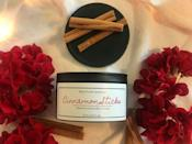 """<p><strong>BlkOrchidApothecary</strong></p><p>etsy.com</p><p><strong>$15.00</strong></p><p><a href=""""https://go.redirectingat.com?id=74968X1596630&url=https%3A%2F%2Fwww.etsy.com%2Flisting%2F700956007%2Fcinnamon-sticks-candle&sref=https%3A%2F%2Fwww.housebeautiful.com%2Fshopping%2Fhome-accessories%2Fg22998163%2Fbest-christmas-scented-candles%2F"""" rel=""""nofollow noopener"""" target=""""_blank"""" data-ylk=""""slk:BUY NOW"""" class=""""link rapid-noclick-resp"""">BUY NOW</a></p><p>Black tea, cinnamon, cream, clove, cardamom, orange peel, and sweet vanilla all come together to create a candle you're sure to be obsessed with all season. </p>"""