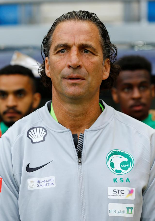 Soccer Football - International Friendly - Saudi Arabia v Algeria - Estadio Ramon de Carranza, Cadiz, Spain - May 9, 2018 Saudi Arabia coach Juan Antonio Pizzi REUTERS/Marcelo Del Pozo