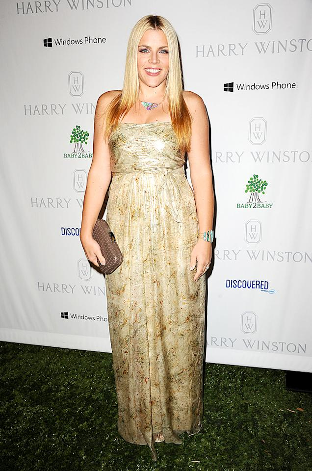 """Cougar Town's"" Busy Philipps, mom to 4-year-old Birdie, was a California girl in her strapless gown and turquoise jewels. (11/23/12)"