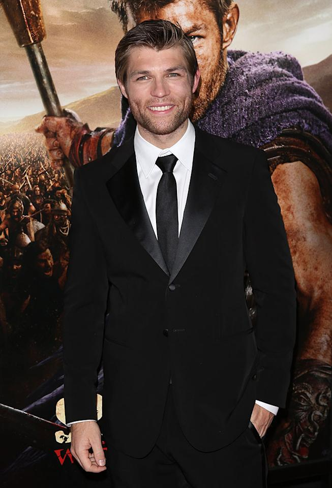 "Liam McIntyre attends the premiere of Starz's ""Spartacus: War of the Damned"" at Regal Cinemas L.A. Live on January 22, 2013 in Los Angeles, California."