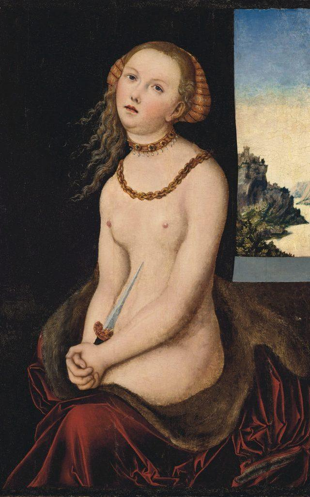 Lucas Cranach the Elder's Lucretia, which the Brooklyn Museum is selling, is estimate at around $1.8 million - Christies