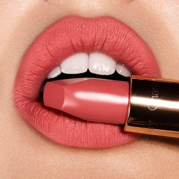 <p>This <span>Charlotte Tilbury Matte Revolution Lipstick</span> ($34) is the perfect shade of coral, and we're into it.</p>