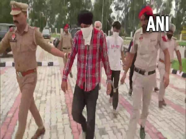 Punjab Police along with terror suspects (Photo/ANI)